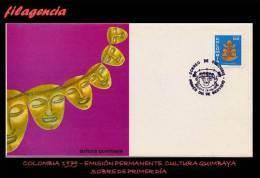 AMERICA. COLOMBIA SPD-FDC. 1979 EMISIÓN PERMANENTE. CULTURAS INDÍGENAS. CULTURA QUIMBAYA - Colombie