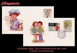 AMERICA. COLOMBIA SPD-FDC. 1979 AÑO INTERNACIONAL DEL NIÑO - Colombie