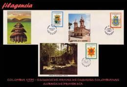 AMERICA. COLOMBIA SPD-FDC. 1979 ESCUDOS DE ARMAS DE CIUDADES COLOMBIANAS - Colombie