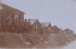 CARTE PHOTO ALLEMANDE - GUERRE 14-18 - BARAQUEMENTS A SITUER - Guerre 1914-18