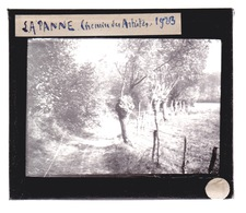 Oude Glasplaat (8. X 10cm). DE PANNE.  Chemin Des. Artistes - Glasplaten
