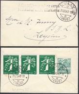 Schweiz 1940 Kleiner Umschlag Interessante Frankatur CULLY - LEYSIN  (23722 - Schweiz