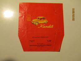 CANDY WRAPPER CHOCOLATE KANDIT , AUTOMOBILE , OSIJEK  CROATIA , 0 - Cioccolato
