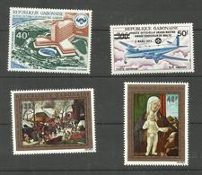 Gabon Poste Aérienne N°127, 128, 132, 133 Neufs** Cote 4.60 Euros - Gabon (1960-...)