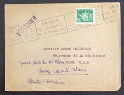 PS170 Pétain 508 «Un Bon De Solidarité Ne Se Refuse Pas» Paris 29/10/1943 - Postmark Collection (Covers)