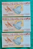 Banknotes 1000 Pacific Francs X 3 - Nouméa (New Caledonia 1873-1985)