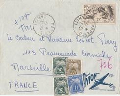 Lettre Océanie Rare Car Taxée Avec Poste N° 200 Seul Sur Lettre Et France Taxe 81, 87 Et 2 X 88. A Posséder - Lettres & Documents