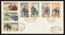 Laos 1958 Elephant 17.3.1958 FDC - Laos