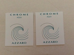 2 Cartes Azzaro Chrome Acqua - Modern (from 1961)