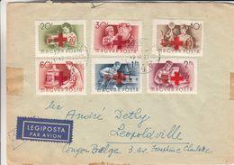 Croix Rouge - Hongrie - Lettre De 1951 - Oblit Budapest - Exp Vers Léopoldville - Congo Belge - Métiers - Croix-Rouge