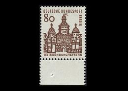Berlin 1964, Michel-Nr. 249, Freimarken: Deutsche Bauwerke, 80 Pf., Bogenrand Unten, Postfrisch - Ungebraucht