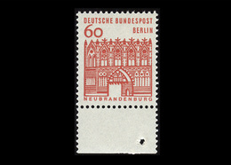 Berlin 1964, Michel-Nr. 247, Freimarken: Deutsche Bauwerke, 60 Pf., Bogenrand Unten, Postfrisch - Ungebraucht