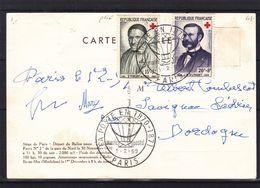 Croix Rouge - France - Carte Postale De 1959 - Oblit Paris - Vol Par Ballon - - Croix-Rouge