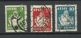 ESTLAND Estonia 1933 Michel 99 - 101 O - Estonia