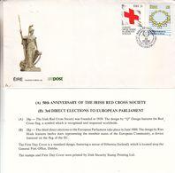 Croix Rouge - Irlande - Lettre De 1989 - Oblit Baile Atha Cliath - Idées Européennes - Croix-Rouge