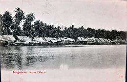 SINGAPORE SINGAPOURE  MALAY VILLAGE VOYAGE EN 1919 - Singapore