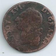 SOL Louis Xvi 1784 AA (metz) Cuivre  N050 - 987-1789 Monnaies Royales