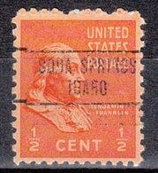 USA Precancel Vorausentwertung Preo, Locals Idaho, Soda Springs 748 - Etats-Unis