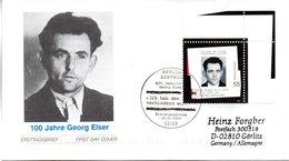 """BRD Schmuck-FDC """"100.Geburtstag Von Georg Elser"""", Mi. 2310 ESSt 16.1.2003 BERLIN ZENTRUM - [7] République Fédérale"""