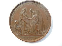 LIEGE-CONSERVATOIRE DE MUSIQUE(50eme ANNIV.)-1877 Par JEHOTTE - 85 Grammes-60 Mm - Professionnels / De Société