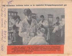 WWII WW2 Leaflet Flugblatt Tract Soviet Propaganda Against Germany  CODE 886 - 1939-45