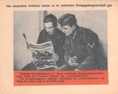WWII WW2 Leaflet Flugblatt Tract Soviet Propaganda Against Germany  CODE 889 - 1939-45