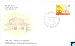 Sri Lanka Stamps 2003, Daham Pahana, Malegoda Sri Pushparamaya, Buddha, Buddhism, FDC - Sri Lanka (Ceylon) (1948-...)