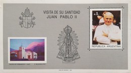 Argentina 1987 Second State Visit Of Pope John Paul II S/S - Argentina