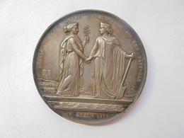 TRAITE DE PAIX BELGIQUE-PAYS BAS (ARGENT)-1839 Par JEHOTTE - 50 Grammes-50 Mm - Professionnels / De Société