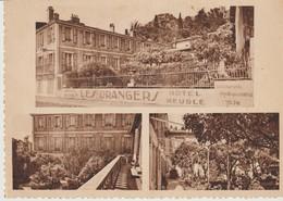 C.P - HYERES - HOTEL LES ORANGERS ET SON JARDIN D'AGRUMES - LE MARIGNY - HOTEL MEUBLE - 3 VUES - Hyeres
