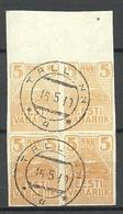 Estland Estonia 1919 Michel 5 As 4-Block O Tallinn - Estonia