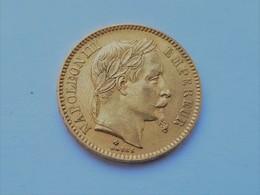 20 FRANCS OR NAPOLEON III TÊTE LAUREE - 1863 BB SUPERBE - L. 20 Franchi