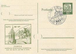 CABRIA - Jubiläums-Briefmarken-Ausstellung. Calw. 1961. B-3058 - Philatelic Exhibitions