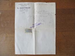 CRUGNY MARNE PLOMBERIE FERBLANTERIE QUINCAILLERIE 18 RUE HAUTE FACTURE DU 20 NOVEMBRE 1922 - 1900 – 1949