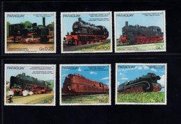739752224  POSTFRIS MINT NEVER HINGED POSTFRISCH EINWANDFREI  SCOTT 2150A - 2150F GERMAN RAILROADS 150TH ANNIV LOCOMOTI - Paraguay