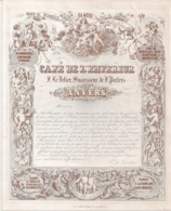 """ANVERS-ANTWERPEN """"CAFE DE L'EMPEREUR-DELIER SUCCESSEUR DE PEETERS""""LITH.S.MAYER-233/187MM - Cartes Porcelaine"""
