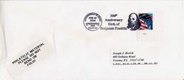 USA -  SPRINGFIELD VA  -  300th Anniversary Birth  Of  BENJAMIN  FRANKLIN - Celebrità
