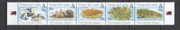 AA323 TRISTAN DA CUNHA ANIMALS & FAUNA MARINE LIFE NATURE REMOTE ISLAND #840-4 !!! MICHEL 12 EURO !!! 1SET MNH - Timbres