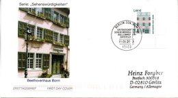 """BRD Schmuck-FDC Freimarken Sehenswürdigkeien1,44€ """"Beethovenhaus, Bonn"""", Mi. 2306 ESSt 16.1.2003 BERLIN ZENTRUM - [7] République Fédérale"""