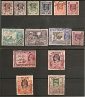 BURMA 1947 INTERIM GOVERNMENT SERVICE TO 5R SG 68/81 FINE USED Cat £40+ - Burma (...-1947)