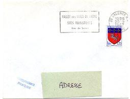 DROME - Dépt N° 26 = VALENCE RP 1967 = Flamme Codée = SECAP  'Vallée Côtes Du Rhone Sites Touristiques Vins De SOLEIL ' - Marcophilie (Lettres)