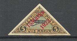 Estland Estonia 1923 Michel 42 * Signed Eo Vaher Etc - Estland