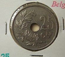 Belgium 25 Centimes 1928 Varnished - 05. 25 Centimes
