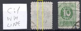 Estland Estonia 1919 Michel 7 C: 1 Wasserzeichen WM-linie Variety ERROR Abart O RRR - Estland