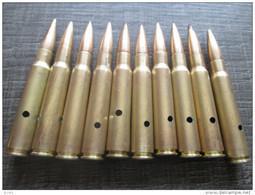 Lot  10 Cartouches 7,92  Mauser Allemande Neutralisées - Decorative Weapons