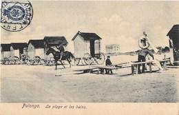 """LITUANIE """" POLONGA """" La Plage Et Les Bains - Litauen"""