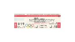 Ticket Curling Olympic Games 1992 Albertville - Olympische Spelen