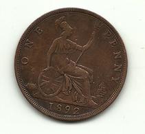 1892 - Gran Bretagna 1 Penny - Altri
