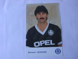 Football - Autographe - Carte Signée Bernard Genghini - Football