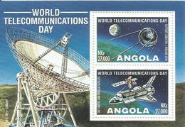 ANGOLA HOJA BLOQUE TEMA ESPACIAL    MNH  ** - Angola